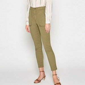 Joie high rise skinny army green jeans